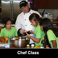 Short Chef teaches a lucky group of  kids the essentials of eating healthy